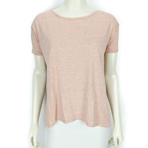 BKE Lounge Short Sleeve Peach Shirt Top  Small